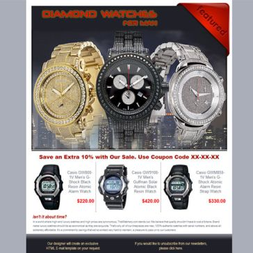 Email Template: Diamond Watch