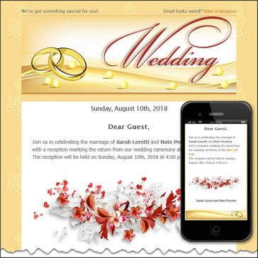 Email Template: Wedding