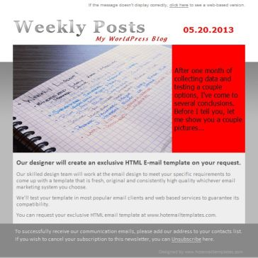 Email Template: Weekly posts