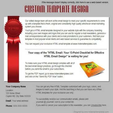 Email Template: Winner