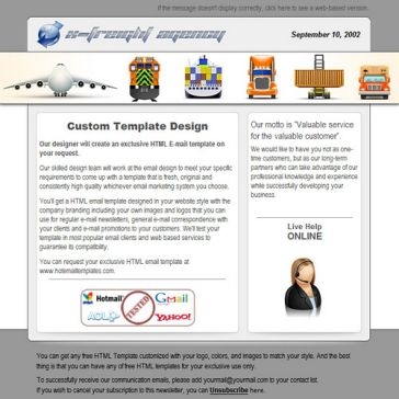 Email Template: X-freight