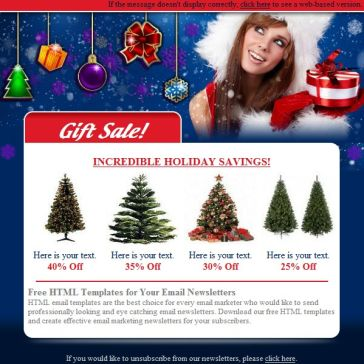 Email Template: Christmas sale