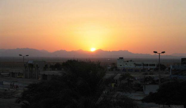 Email Template: Sunset in desert