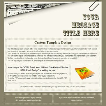 Email Template: 100 dollars