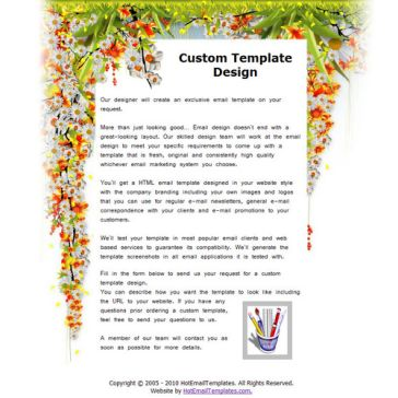 Email Template: Flower Falls