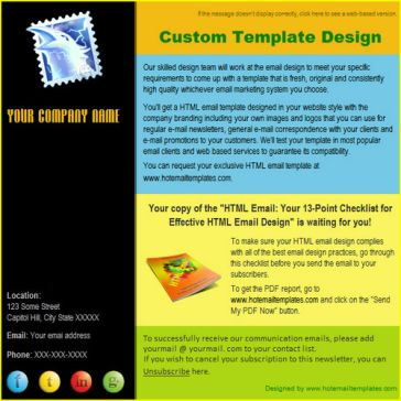Email Template: 5 colors