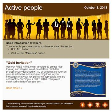 Email Template: Active people