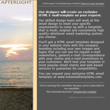 Email Template: Afterlight