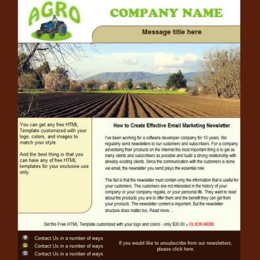 Email Template: Agro