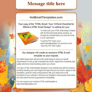 Email Template: Autumn gold
