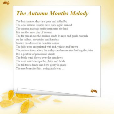 Email Template: Autumn melody