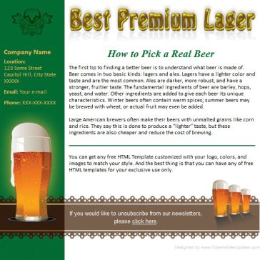 Email Template: Beer