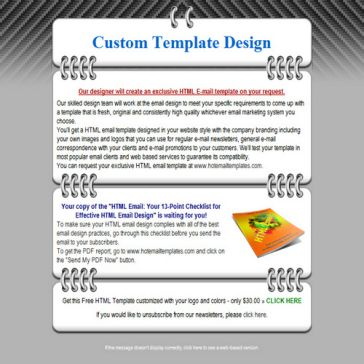 Email Template: Binding leaf