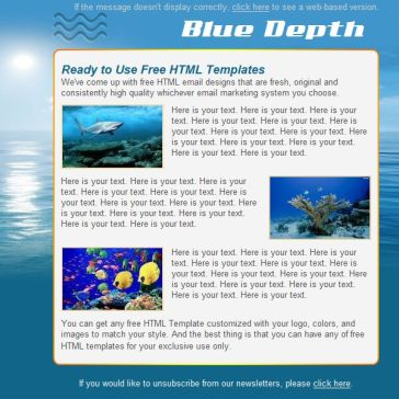 Email Template: Blue depth