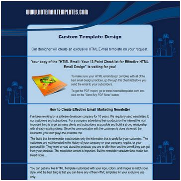Email Template: Blue night