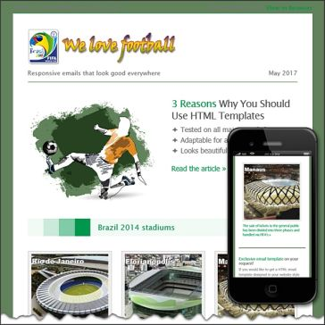Email Template: FIFA World Cup 2014