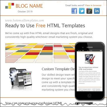 Email Template: Bright tiles