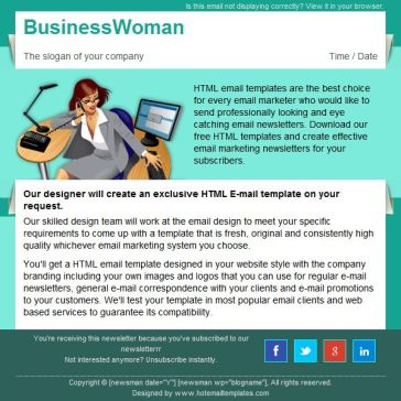 Email Template: Business woman