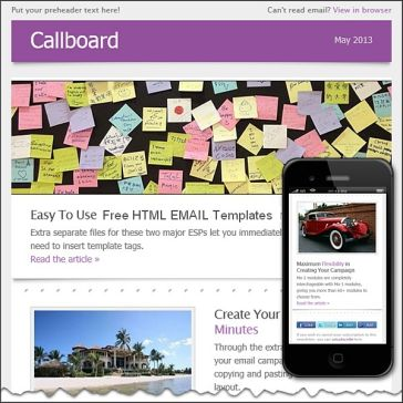 Email Template: Callboard