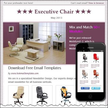 Email Template: Best chairs