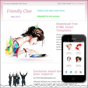 Email Template: Friendly Chat