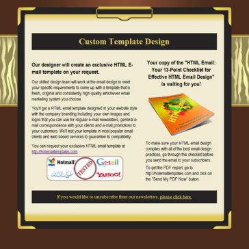 Email Template: Golden clipboard