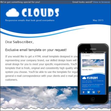 Email Template: Clouds