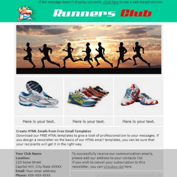 Email Template: Club Runing