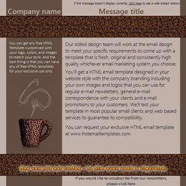 Email Template: Coffee