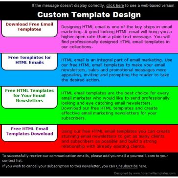 Email Template: Colorful bookmarks