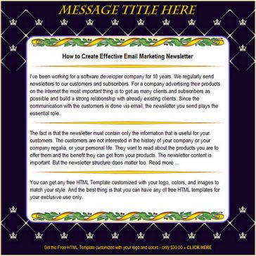 Email Template: Crown