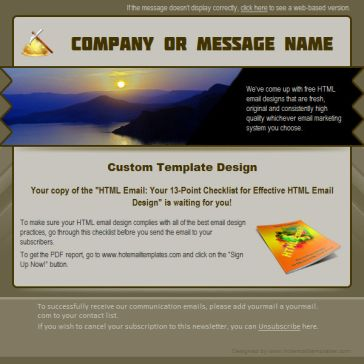 Email Template: Early