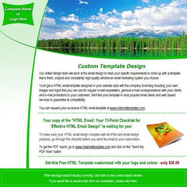 Email Template: Ecology