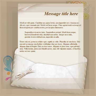 Email Template: Envelope