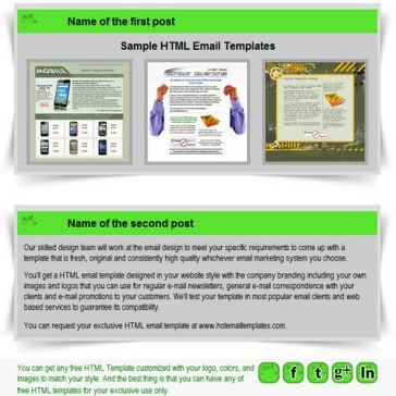 Email Template: Environmental