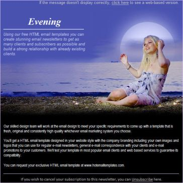 Email Template: Evening