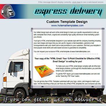 Email Template: Express delivery