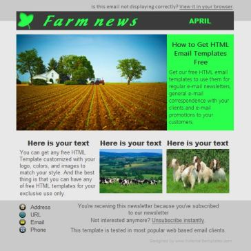 Email Template: Farm