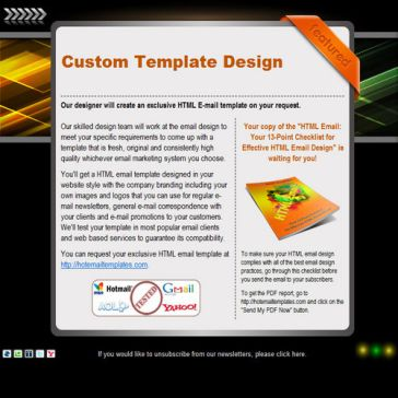 Email Template: Black featured