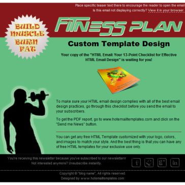 Email Template: Fitness