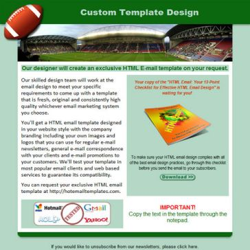 Email Template: Football
