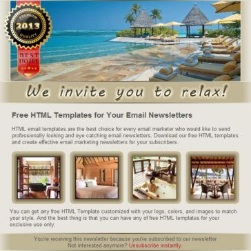 Email Template: Four seasons