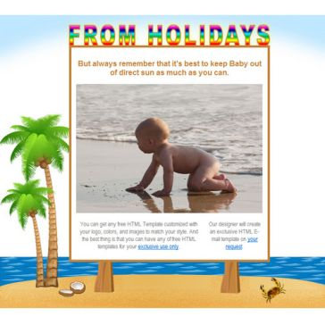 Email Template: From holidays