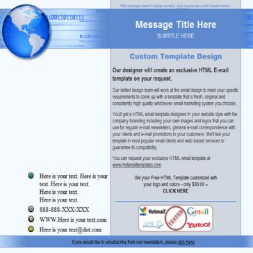 Email Template: Global ad