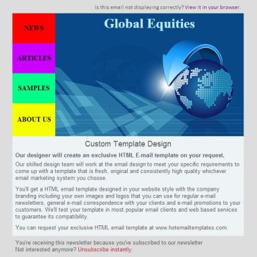 Email Template: Global equities