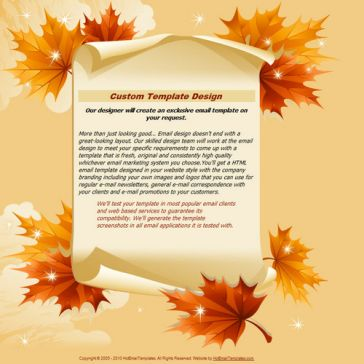 Email Template: Gold Autumn