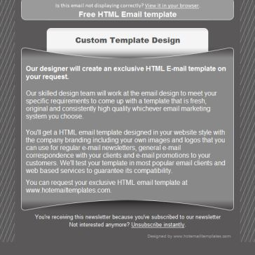 Email Template: Gray