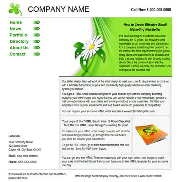 Email Template: Green