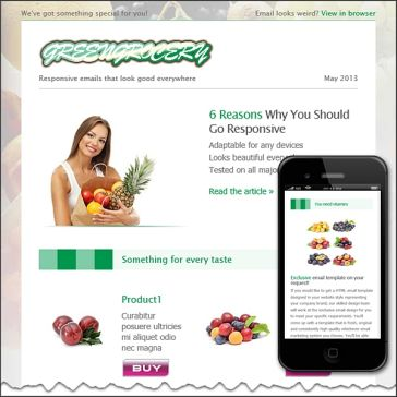Email Template: Greengrocery