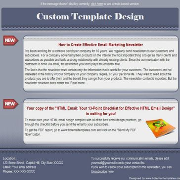 Email Template: Grey seam